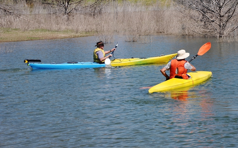 African Queen and Old Yella, paddled by friend, Brock, set out on a trip.