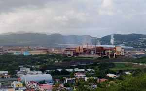 The polluting n ickel smelter.